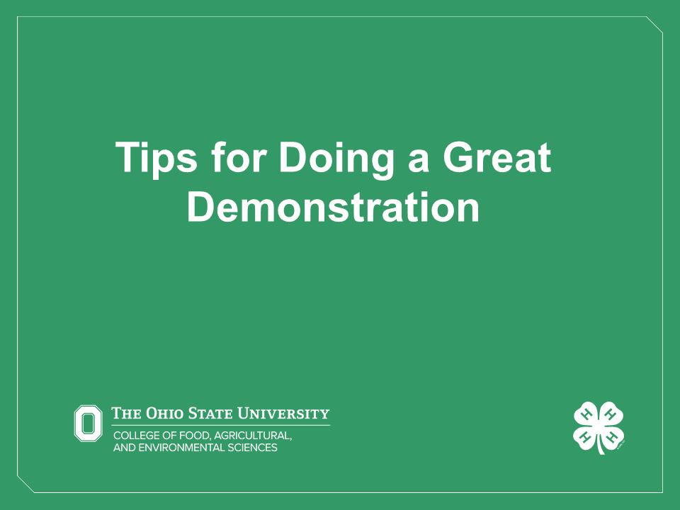 Tips for Doing a Great Demonstration Video