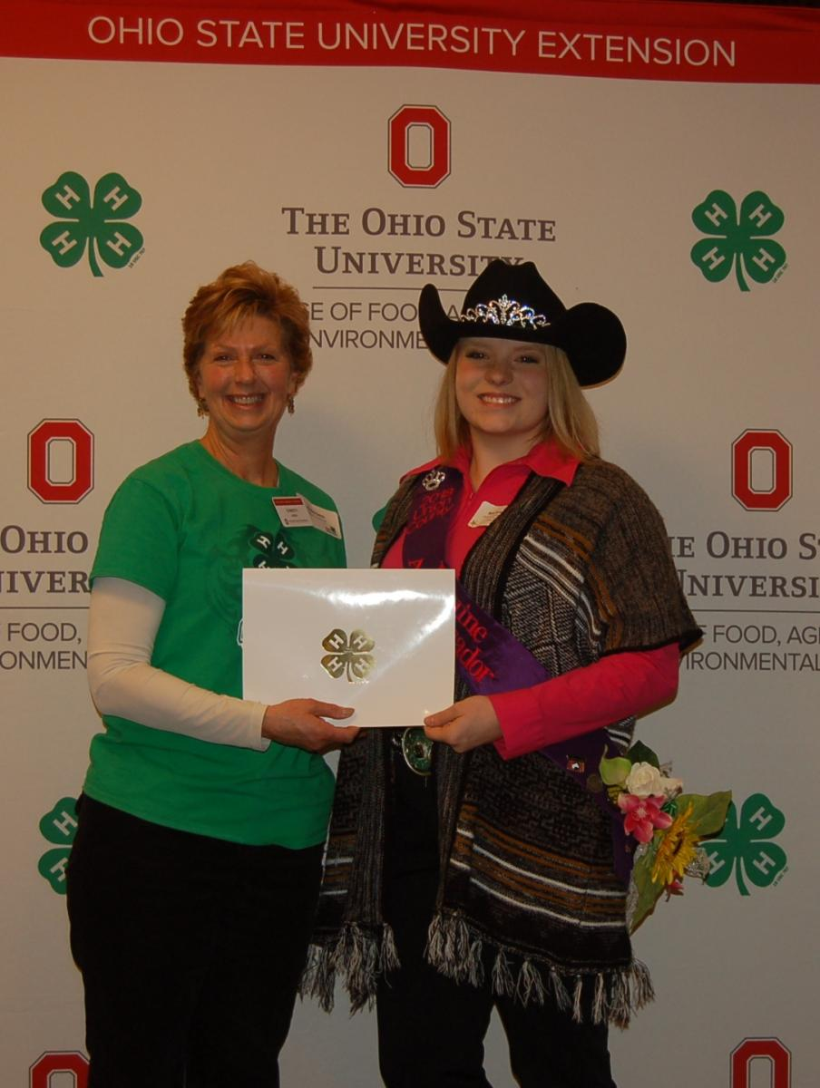 Mackenzie Abbati from Hoof Beats 4-H Club was recognized as an Outstanding 4-H'er